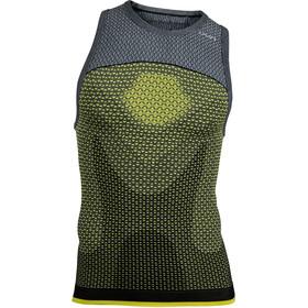 UYN Running Alpha OW Koszulka do biegania bez rękawów Mężczyźni żółty/szary